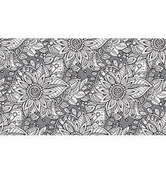 Seamless floral pattern with fancy flowers vector