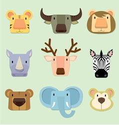 Wild animals face vector