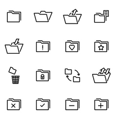 Thin line icons - folder vector