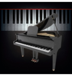 abstract grunge black background with grand piano vector image