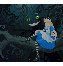 Alice in wonder forest vector