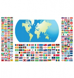 all flags of the world vector image vector image