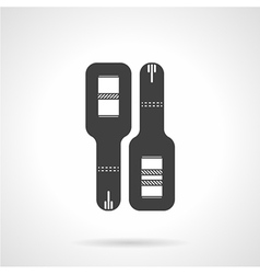 Black icon for pregnancy test vector
