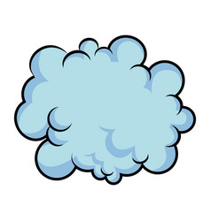 Black pencil with reflection drawing fluffy cloud vector