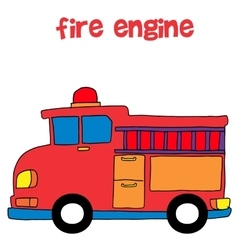 Collection style of fire engine vector image