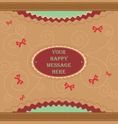 Cute message vector