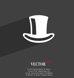 Cylinder hat icon symbol flat modern web design vector