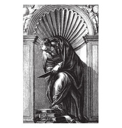 diogenes can be now be found in the library of st vector image