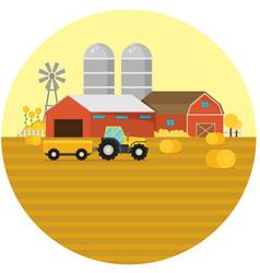 farm flat element vector image
