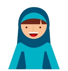 Islamic woman culture icon vector