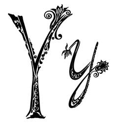 letter Y y vector image vector image