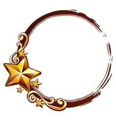 Logo design with golden stars vector image
