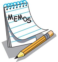 Memo Pad pencil vector image