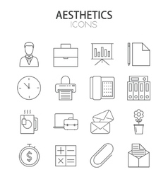 modern thin line flat design of icons set vector image