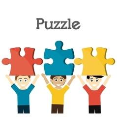 Puzzle design vector