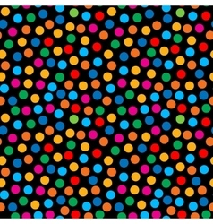 Rainbow bright dots seamless pattern vector image