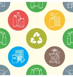 recycle waste seamless pattern vector image vector image