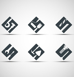 Set of icons tool vector