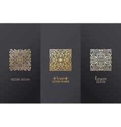 Set of linear design elements vector