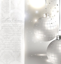Silver Christmas Card vector image vector image