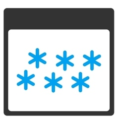 Snowflakes calendar page toolbar icon vector