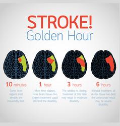 stroke golden hour infographic logo icon vector image vector image