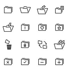 thin line icons - folder vector image
