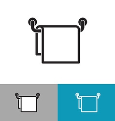 Towel on a hanger black silhouette icon vector image vector image