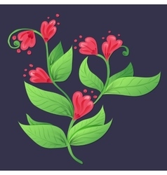 Ethnic floral pattern vector