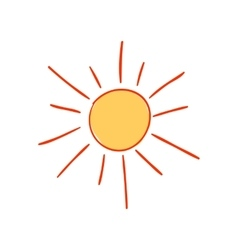 Hand-drawn sun vector