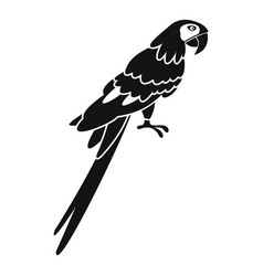 brazilian parrot icon simple style vector image