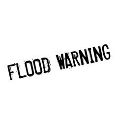 Flood warning rubber stamp vector