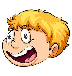 A head of a boy running against the clock vector