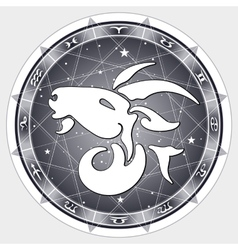 Zodiac sign capricorn vector