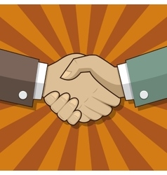 Partnership handshake sign vector image