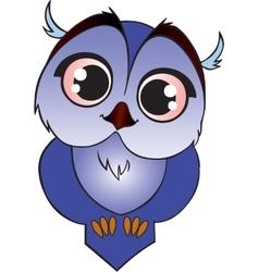 Blue cartoon owlet vector