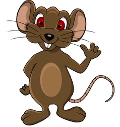 Funny mouse cartoon vector