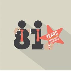 81st years anniversary typography design vector