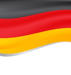 a flying flag of Germany vector image