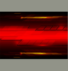 abstract red technology design backdrop vector image