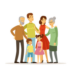 big family with mother vector image