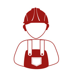 Builder avatar silhouette icon vector