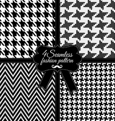 Fashion pattern Black and White vector image vector image