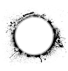 Ink blots circle vector