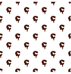 letter c from latin alphabet made of chocolate vector image vector image