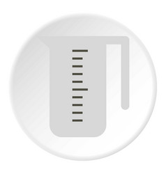 Measuring cup icon flat style vector