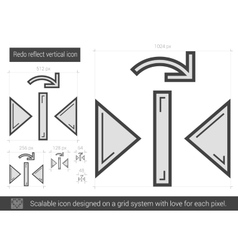 Redo reflect vertical line icon vector