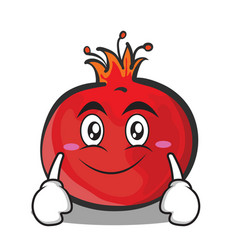 Smile pomegranate cartoon character style vector