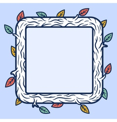 Square wooden frame vector image vector image