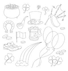 St Patricks Day design elements set vector image vector image
